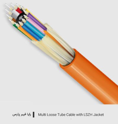 کابل مالتی لوز تیوب با پوشش LSZH