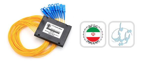 اسپلیتر فیبر نوری کاستی 2:8/SC/UPC
